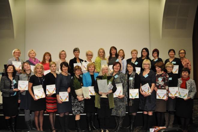 Seitsmendal väärtuskasvatuse konverentsil tunnustatud koolid ja lasteaiad. Pildi autor: Trin Paaver