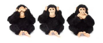 Kolm ahvi, millest üks katab kätega silmi, teine kõrvu ja kolmas suud