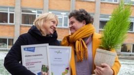 Pärnu Vabakooli tunnustas eetikakeskus teadliku, iseseisva ja õnneliku õppija kujundamise, väärtuspõhise koolikultuuri loomise ning heade suhete väärtustamise eest. Foto: Andres Adamson